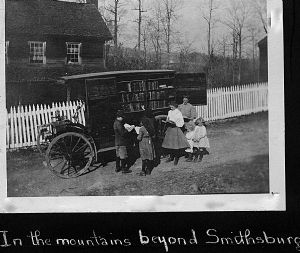 Smithsburg - The library bookmobile visits homes in Washington County, Maryland