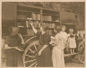 Maryland Heights - The library bookmobile visits homes in Washington County, Maryland
