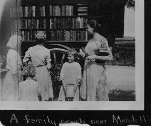 Mondell's. The library bookmobile visits homes in Washington County, Maryland, Mondells