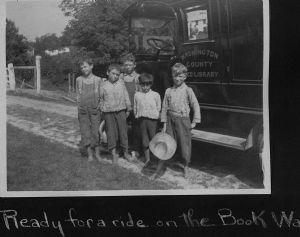 The bookmobile traveled throughout Washington County.