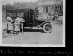 Indian Springs. The library bookmobile visits homes in Washington County, Maryland