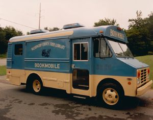 Bookmobiles over the years. Washington County Free Library