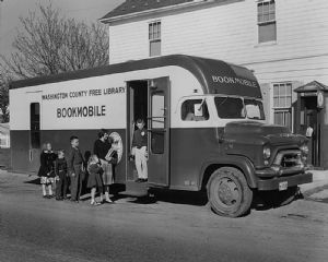 Tilghmanton. The bookmobile visited homes throughout Washington County, Maryland.