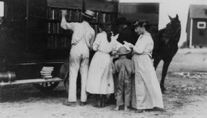 The bookmobile traveled throughout Washington County
