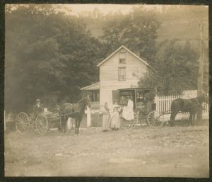 The first Book Wagon, Washington County Free Library, Washington County, Maryland.