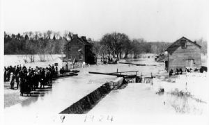 Lock 38 during the flood of 1924