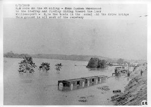Flood damage Cushwa Basin area