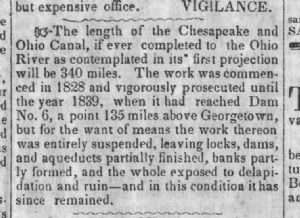 Canal - according to <i>The News</i>