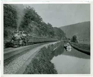 Capitol Limited and canal boat