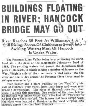 Hancock Bridge may go out