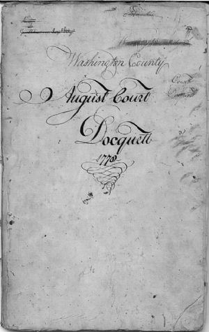 Washington County August Court Docquett 1778