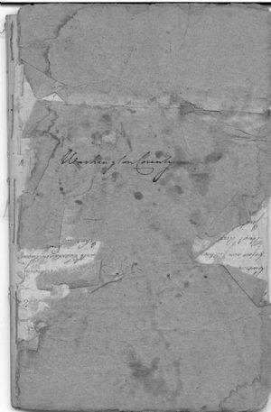 Washington County November Court Docquett 1778 Cover