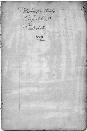 Washington County August Court Dockett 1779