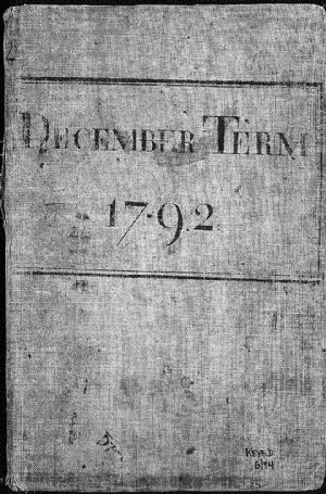December Term 1792  (Book Cover)