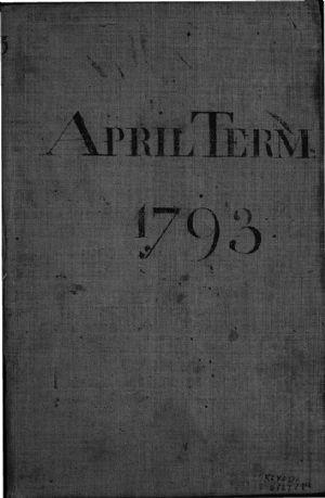 APRIL TERM 1793