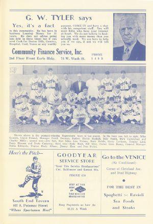 1951 Hagerstown Brave team photo