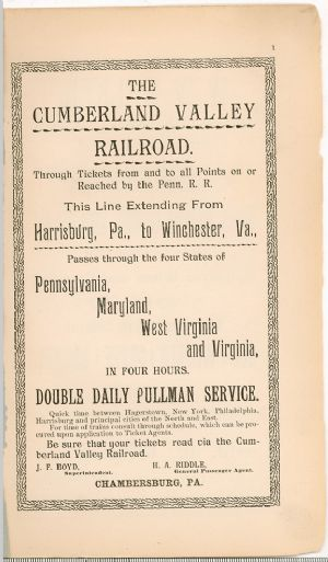Hagerstown Directory 1893 -Page 1