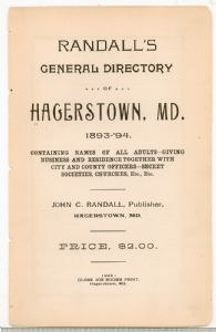 Hagerstown  Directory 1893 -Page 3
