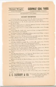 Hagerstown Driectory 1893 -Page 7 - Secret Societies