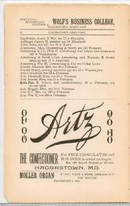 Hagerstown Directory 1893 -Page 12