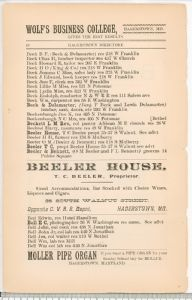 Hagerstown Directory 1893 - Page 18