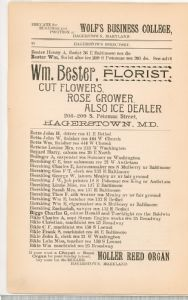 Hagerstown Directory 1893 -Page 20