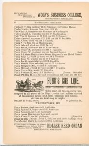 Hagerstown  Directory 1893 -Page 52