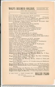 Hagerstown  Directory 1893 -Page 58