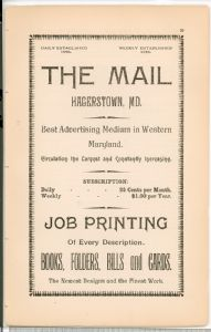 Hagerstown  Directory 1893 -Page 59 - full page advertisement