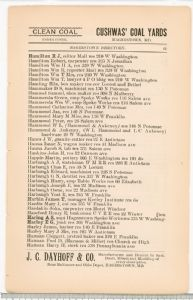 Hagerstown  Directory 1893 -Page 61