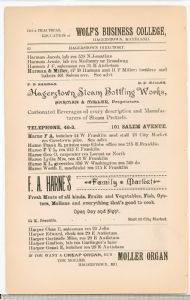 Hagerstown  Directory 1893 -Page 62