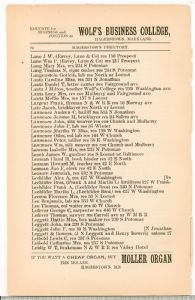 Hagerstown Directory 1893 -Page 82
