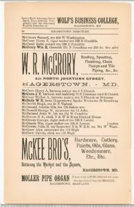 Hagerstown Directory 1893 - Page 88