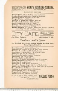 Hagerstown Directory 1893 - Page 96