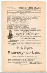 Hagerstown Directory 1893 - Page 98