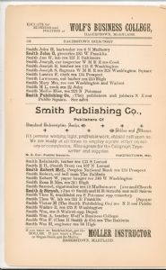 Hagerstown Directory 1893 - Page 122