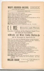 Hagerstown Directory 1893 - Page 140