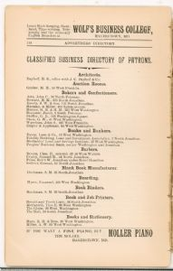 Hagerstown Directory 1893 - Page 144