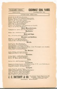 Hagerstown Directory 1893 - Page 147