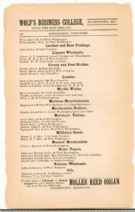Hagerstown Directory 1893 - Page 148