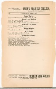Hagerstown Directory 1893 - Page 150