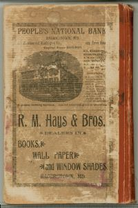 Hagerstown Directory 1893 -Back page