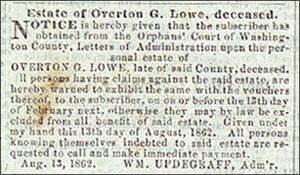 Herald of Freedom and Torch Light, Hagerstown, Md., September 1862, page 3
