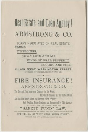 Advertisement - Armstrong & Co.