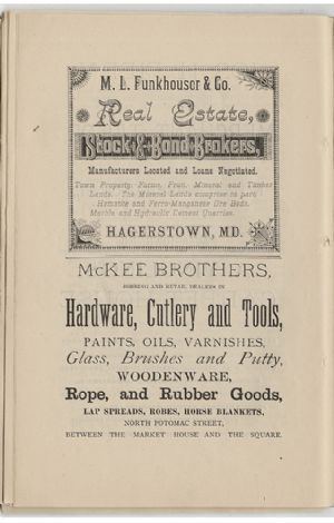 Advertisement - M. L. Funkhouser and McKee Brothers
