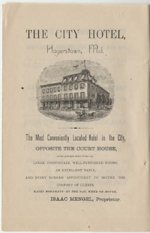 Advertisement - City Hotel