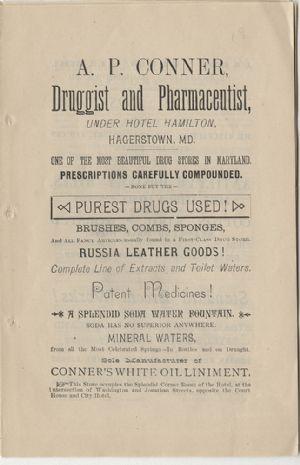 Advertisement - A. P. Conner