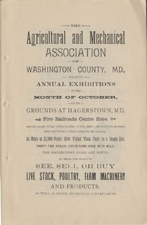 Advertisement - Agricultural and Mechanical Association.