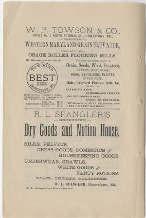 Advertisement - W. P. Towson and R. L. Spangler