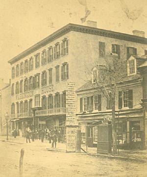 Hagerstown,  Washington House, West Washington Street.